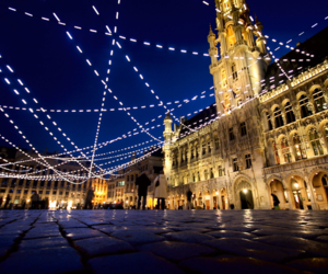 brussels, lights, and winter image