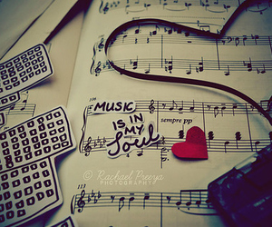 art, heart, and music image