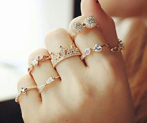 rings, accessories, and gold image