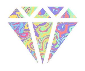colors, diamond, and overlay image