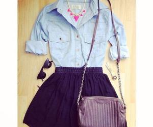 skirt, black, and shirt image