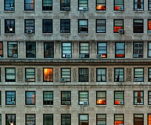 city, windows, and building image