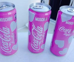 pink, Moschino, and coca cola image