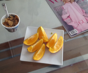 breakfast, orange, and snack image