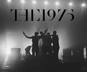 band, the 1975, and black and white image