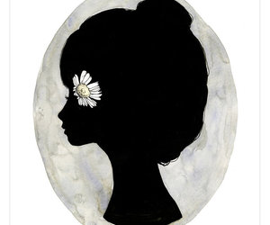 flower, art, and black and white image