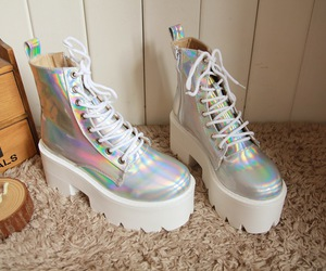 boots, chunky boots, and iridescent image