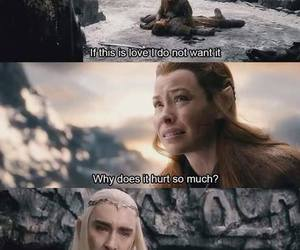 tauriel, the hobbit, and funny image