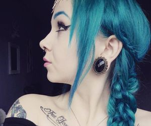 blue, blue hair, and dyed hair image