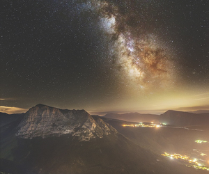 mountains, amazing, and galaxy image