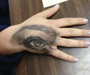 art, eye, and hand image