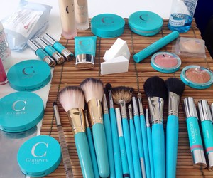 beauty, makeup, and blue image
