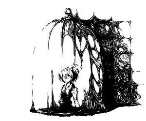 anime, Черное белое, and art image