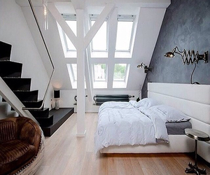 bedroom, dream house, and light image