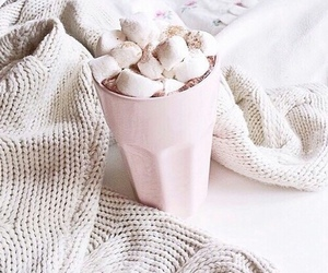 food, pink, and hot ​chocolate image