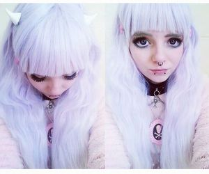 kawaii, purple hair, and pastel goth image