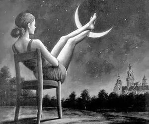 dreams, night, and stars image