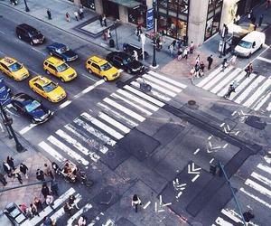city, new york, and street image