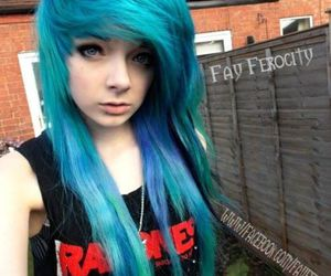 scene, blue hair, and scene girl image