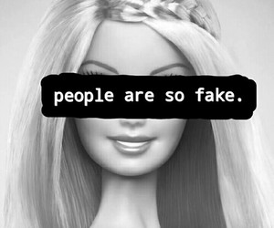 fake, barbie, and people image