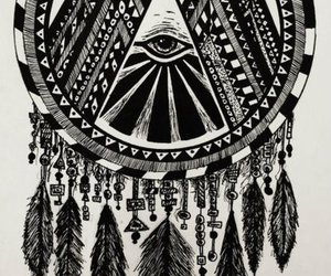 hipster, mystical, and triangle image