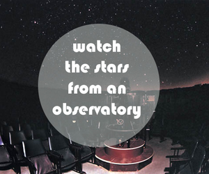 night sky, observatory, and stars image