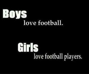boy, girl, and football image