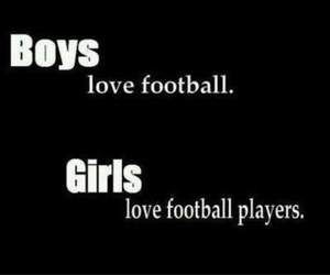 boy, girl, and football image
