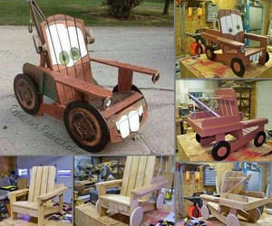 cars, diy pallet chair, and diy adirondack chair image