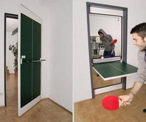 door, ping pong, and table image