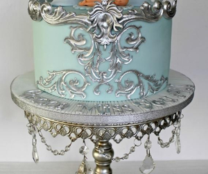 blue, cake, and silver image