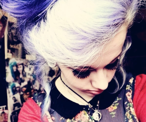 purple hair and scene girl image