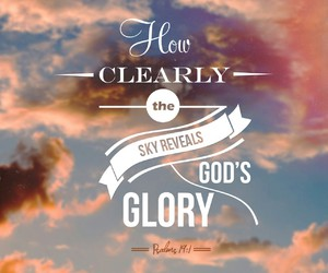 beauty, glory, and god image