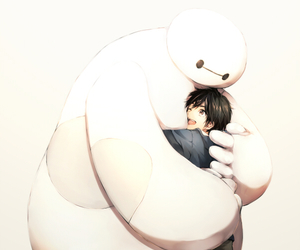 baymax, big hero 6, and hiro hamada image