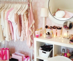 pink, clothes, and room image
