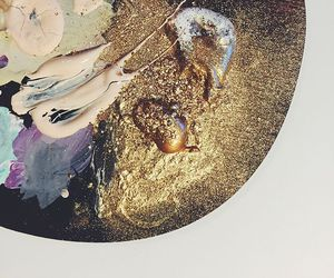 art, paint, and gold image
