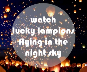 lampion, sky, and lucky image