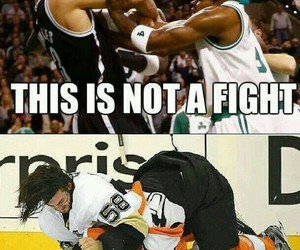 Basketball, fight, and funny image