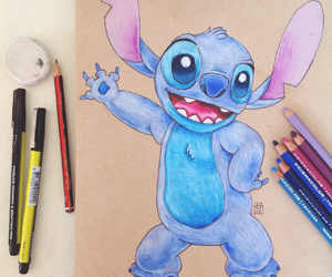 blue, stitch, and cute image