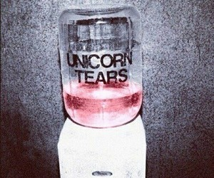 drinking, tears, and unicorn image