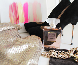 chanel, perfume, and shoes image