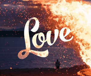 love, fire, and god image