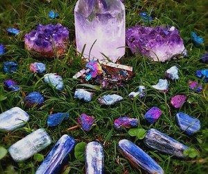 crystal, magic, and purple image