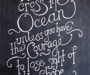 quote, ocean, and courage image