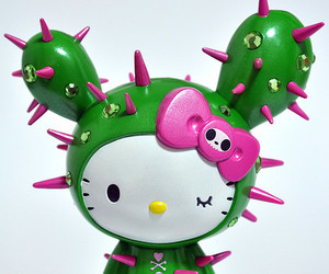 cactus, green, and hello kitty image