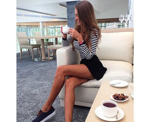 girl, hair, and legs image