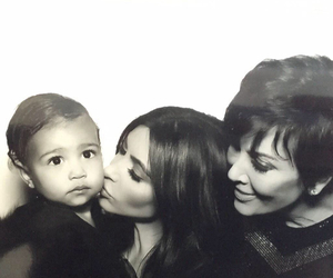 north west, kim kardashian, and kris jenner image