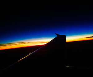 blue, orange, and plane image