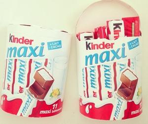 chocolate, kinder, and maxi image