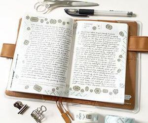 diary, grey, and handwriting image